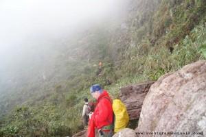 letzter Abschnitt des Aufstiegs zum Roraima