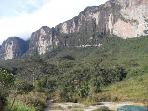 The ramp of Roraima